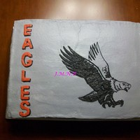 Eagle Vanilla creme cake, Buttercream frosting. This was a cake for my son's flag football team. Was not happy about the buttercream that...