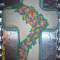 1St Easter Cross   My first cross cake for Easter. Everything done in BC. Thanks.