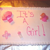 It's A Girl!!!   Baby shower cake with buttercream icing....