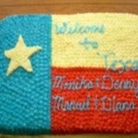 Texas Flag Cake Cake made with BC icing. All done in star tip. And when I made this cake I didn't have 3 star tip just the single star.
