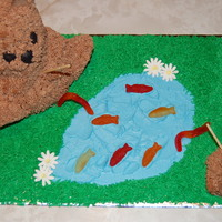 Bears Go Fishing...  My Dad is a teacher & had an author of a book coming in to his school. He asked me to make this for the luncheon. The book was about...