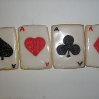 Pick A Card   Sugar cookie cards for a co-worker's birthday who loves card tricks.