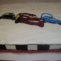 Racing Cars 2 Detail on cake sides.