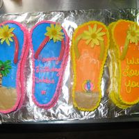 Flip Flop My sister's 50th Bday cake. got the idea from coolest-cakes