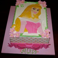 Princess Aurora   BC with fondant Aurora & decor.