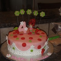 Strawberry Shorcake Strawberry Shortcake for a friends daughter. Got the idea from a few other cakes on here so i cannot take credit for design