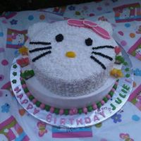 Hello Kitty! WASC with buttercream and fondant accents