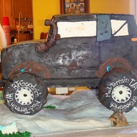 40Th Birthday Cake  Client wanted a cake replica of her husband's souped up Geo Tracker, including the snorkel. Cake was mostly WASC with one layer of...