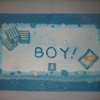 Baby Boy Shower Cake With Abc Blocks   Baby Shower cake - fondant baby, white chocolate baby blocks