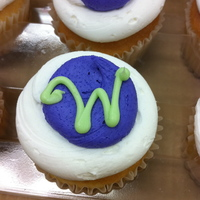 Monogram Cupcakes Just some cute cuppies I did today at the grocery store. Thought I would share. The color was actually purple, but it showed up blue in my...