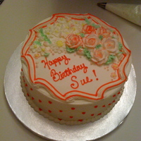 Buttercream Floral A cake I made for my mother in law on her birthday. She loves buttercream so I thought I would just pile the flowers on it! She loved it,...