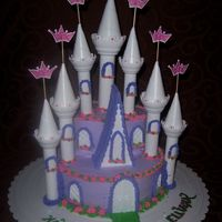 Princess Castle It was best friend's 2 year princess party. I used the Wilton Castle set and Pastry pride whipped icing as I like the taste better. It...