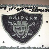 Raiders Bday Made this for my nephew. Just did my best to hand draw the logo. Turned out ok I guess for doing at 4am, lol. He was happy and that is what...