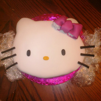 "Hello Kitty Cake 10"" carved hello kitty face. TFL."