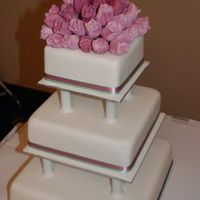 Tulip Wedding Cake - Flowers Made From Sugar Paste