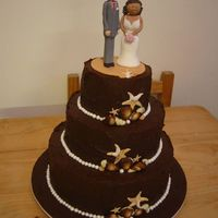 Chocolate Wedding Cake Chocolate mud cake covered in chocolate ganache