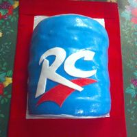 Rc Cola Can Cake   My husband works for Rc bottling company and this is the cake I did last year for the Christmas party.