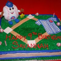 Chicago Cubs Birthday Cake  I am NOT a professional cake maker! I am learning how to make cakes by watching videos online and doing a lot of reading. I would LOVE to...