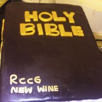 Bibble Cake Bibble cake for my church.Wasc cake with cream cheese fillings and mmf covering.cover was meant to be black but i could never come up with...