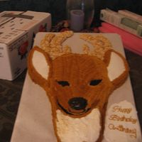 Deer Cake made with the Dora and the basket (from course II) cake pan. He has rice krispy antlers.. I looked for a cake to pattern but finally looked...