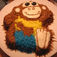 Monkey Cake Monkey made with cream cheese icing.