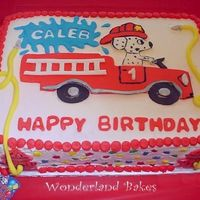 Child's Firetruck Birthday Cake First of all I would like to thank everyone to lent to the inspiration behind this cake. I got the idea from cakes that I found here. The...