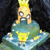 Spongebob to a 30th birthday spongebob strawberry cake with fondant and icing figures