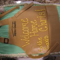Welcome Back Cake made for our boss who returned to our store-buttercream, apron, baseball and bat are fondant. TFL!