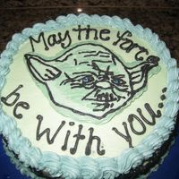Yoda Marble cake all w/buttercream and FBCT Yoda.TFL!