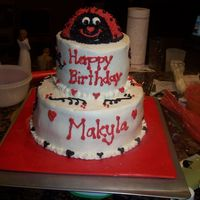 Ladybug Cake This is my 4th cake. It is a ladybug cake that I made for my daughter's 5th birthday. She loved it! It tasted good too!