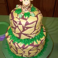 Jessica's Baby Shower Cake This was a giraffe themed baby shower cake for myself. I really wanted to try some giraffe print. Turned out pretty good. Chocolate BC with...