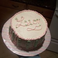 Lucy's Cake This was for some friends who had just had a baby girl and named her Lucy. This was my first cake. I definitely could have used some more...