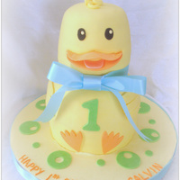 Ducky Made this for a little boy turning 1. WASC and IMBC, fondant and gumpaste details. TFL!