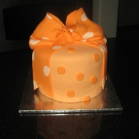 Orange Bow Cake  One of my clients has a 4 year old daughter who wanted a small cake to celebrate moving into their new home... her only requirement was...