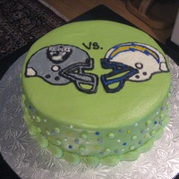 Sunday Football I did this cake for a football BBQ my my family and I went to... I don't do a lot of buttercream work, so it was fun to play around...