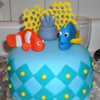 Finding Nemo...my First Cake!  This is the first cake I ever made! I saw them done on tv and thought..it cant be that hard. It was a little tougher than I thought, but I...