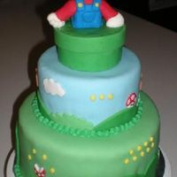 Birthday Cake For Customer Someone contacted me about making a unique cake for her sons mario themed birthday party. This one was a blast making.