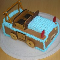 Jeep Cake For a special little boy's first birthday. Rich chocolate cake. All edible.