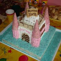 Zarina_Torta.jpg Castle cake I made for a special little girl for her first birthday.