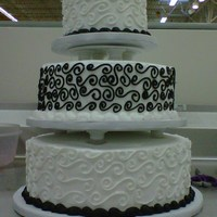 Simple Wedding Cake white cake made with buttercream frosting