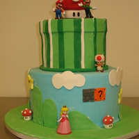 Supermario Brothers Birthday Cake   Super Mario Brothers Birthday Cake