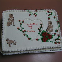 Grin (Golden Retrievers In Need) This cake was made for a couple that met while at a booth trying to collect funds to help Golden Retrievers that have no homes. The cake is...