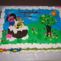 Congradulations Cake I made this for a friend that finished her education at a dog grooming school