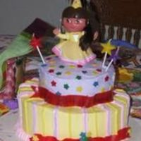 Dora   first tier cake. My daughter loved it!