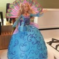 Barbie Cake   All bc with a real barbie from island princess in the middle. My first doll cake. It was a lot of fun!