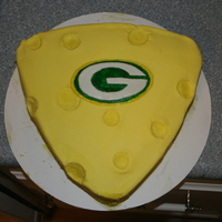 Superbowl Win!!! I made this cake for our superbowl party we had and it was very helpful with the win!!! haha :) It was a white cake with cheese cake...