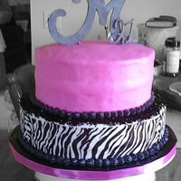 Glamorus 21! this is a cake i did for a friends 21st birthday! zebra print is made with edible images.