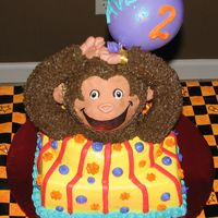 Averi's Second Birthday Curious George this picture was taken at my house before delivery... this is what he was suppose to look like once he was delivered.. but oh well... my...