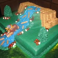 Open Season Birthday Cake My son loves Open Season and had to have a cake with the Beaver Dam and Waterfall scene from the movie. I am really happy with how it...