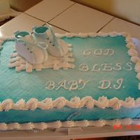 Baby Booties Cake I did for my grandnephew's christening...I'm learning and enjoying it.